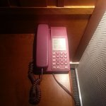 the telephone is PINK!!! LOL!!!