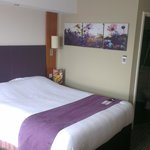 Comfortable Premier Inn room.