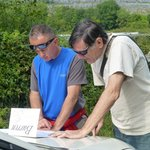 Tony and David studying map of Burren