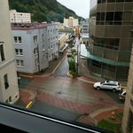 Juneau view from state capitol window