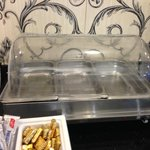 Empty trays where hot food suppose to be and this was one day before 9:00 am