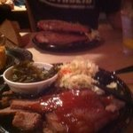Spare Rib dinner and Brisket dinner(foreground)