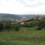 Hotel is on a hill above Pristina