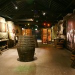 Excellent cooperage display leading to live warehouse