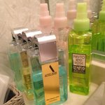Toiletries in the room
