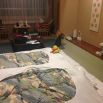 The room with futon set up