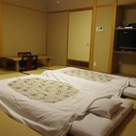 room with beds