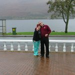 me and the wife with the loch at our back
