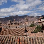view overlooking Calle Palacio and rooftops of Cusco