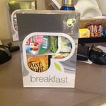 The continental breakfast that was part of the deal.