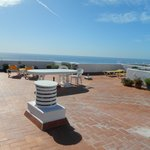 Private roof terrace with views of the beach and pool