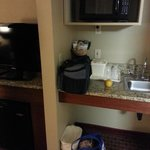 small kitchenette-type area in our king suite