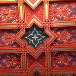 Beautiful ceiling of the common room