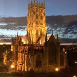 Doncaster Minster from the room