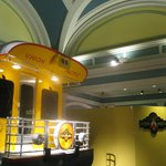 Large open spaces provide a great background for the individual exhibits.