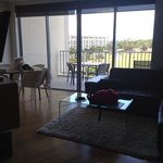 Dining, living room and balcony of room 4310.
