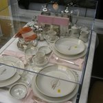 A display of the fine china offers a clue to the quality of service in the mid-20th century.
