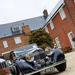 Wedding Car in the courtyard