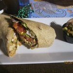 Santa Fe Wrap with cucumber salad