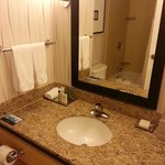 Small but adequate bathrooms