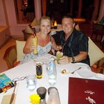 Julie and Craig at Mare Restaurant..wonderful food and service