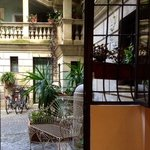 view into the courtyard from the Romantico apartment