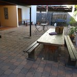 Outside dining area