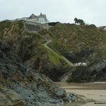 Hotel Trebarwith (from beach)