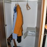 the huge wardrobe also nicely clean