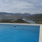 The view from the pool and sun terrace