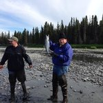 The fishing was great on the Kenai. We want to thank Jim and Elaine for such a great time !
