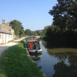 In Bath, jumping onto the canal towpath