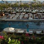 other pool and view of marina