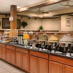 Complimentary, full, hot, breakfast buffet every morning!