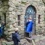 The witches magic house in the forest
