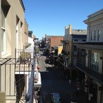 Facing the bourbon street from the balcony