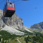 Lagazuoi cable car in summer