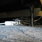 The bundle of wires I found under the bed and you can see the cob webs...