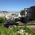 Lombard St. is the 'crooked street', an 8 block UP-hill walk from the hotel