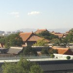 Day view of Forbidden City from the room