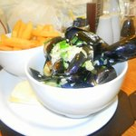 Mussels with chips....all for £6