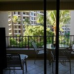 """Patio of """"Ocean View """" room ... where's the ocean? (photo 4 of 5)"""