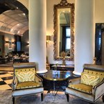 Elegant chairs at the hotel lobby