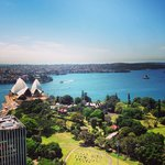 A segment of the view from The Club InterContinental Sydney