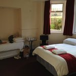 Double and one of the single beds!
