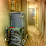 "Mind the housekeeping trollies left out in corridors ... on the ""first floor"" ... Noisy airless"