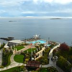 The mineral pools and Oak Bay
