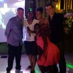 My wife and I hanging with DJ Skylar and Dustin and a friend we met while @ star island