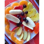 Fresh fruit platter- delicious!