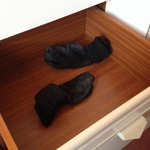 Dirty mouldy socks in the draw